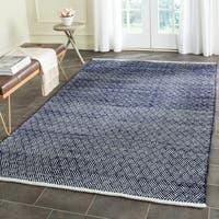 Safavieh Hand-Tufted Boston Navy Cotton Rug (5' x 8') - 5' x 8'