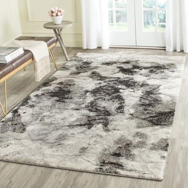 Safavieh Retro Modern Abstract Cream Grey Distressed Rug