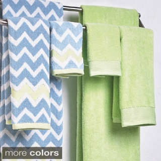 Amrapur Overseas 600 GSM 100-percent Cotton Yarn Dyed Chevron 6-piece Towel Set