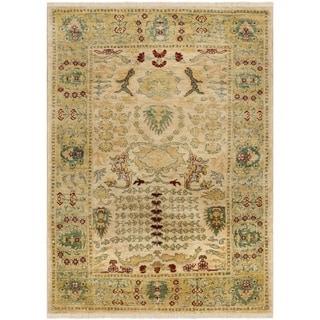 Safavieh Hand-knotted Peshawar Vegetable Dye Ivory/ Gold Wool Rug (5' x 8')