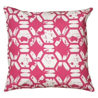 Rizzy Home Pink And White Square Pillow Cover