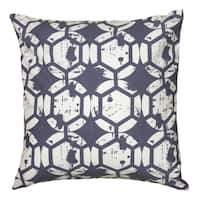 Rizzy Home Navy And White Square Pillow Cover