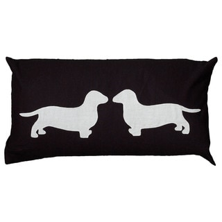 "Rizzy Home 11"" x 21"" Dachshund Accent Pillow"