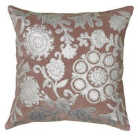 """Rizzy Home 18"""" Floral Accent Pillow"""