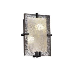 b2e45d57af Justice Design Group Fusion Clips 2-light Black Wall Sconce