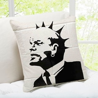 Banksy Art 'Lenin Punk' Weston Super Mare Throw Pillow