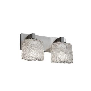 Justice Design Group Veneto Luce Modular Oval 2-light Nickel Bath Bar