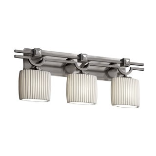 Justice Design Group Limoges Argyle 3-light Nickel Bath Bar