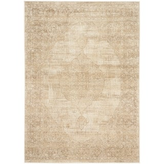 Safavieh Vintage Oriental Cream Distressed Silky Viscose Rug (3' x 5')