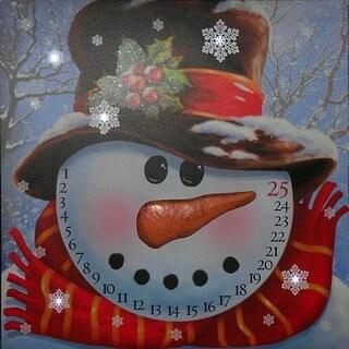 Lighted Canvas: Snowman Advent Calendar
