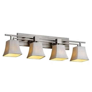 Justice Design Group Limoges Aero 4-light Nickel Bath Bar