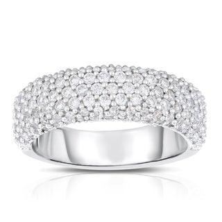 Eloquence 14k White Gold 1ct TDW Diamond Pave Ring