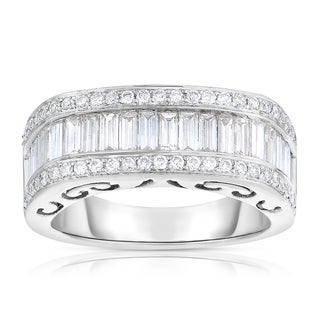 Eloquence 14k White Gold 1 1/2ct TDW Diamond Fashion Ring (J-K, SI1-SI2)