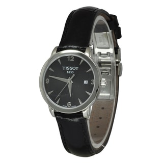 Link to Tissot Women's T0572101605700 'T-Everytime' Black Leather Watch Similar Items in Women's Watches