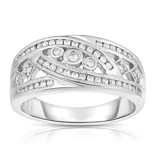 Eloquence 14k White Gold 1/4ct TDW Diamond Fashion Ring