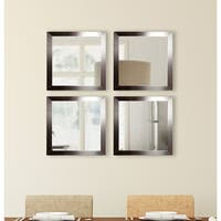 American Made Rayne Silver Petite Square Wall Mirror Set