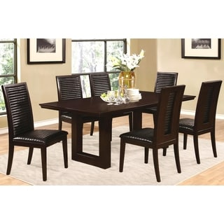 Sapire Channel Quilted Upholstered 7-pc Dining set
