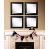 American Made Rayne Solid Black Angle Square Wall Mirror Set