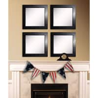 American Made Rayne Black Superior Square Wall Mirror Set