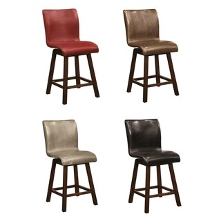 Montgomery Sleek Sculpted Upholstered Counter Height Swivel Dining Stools (Set of 2)