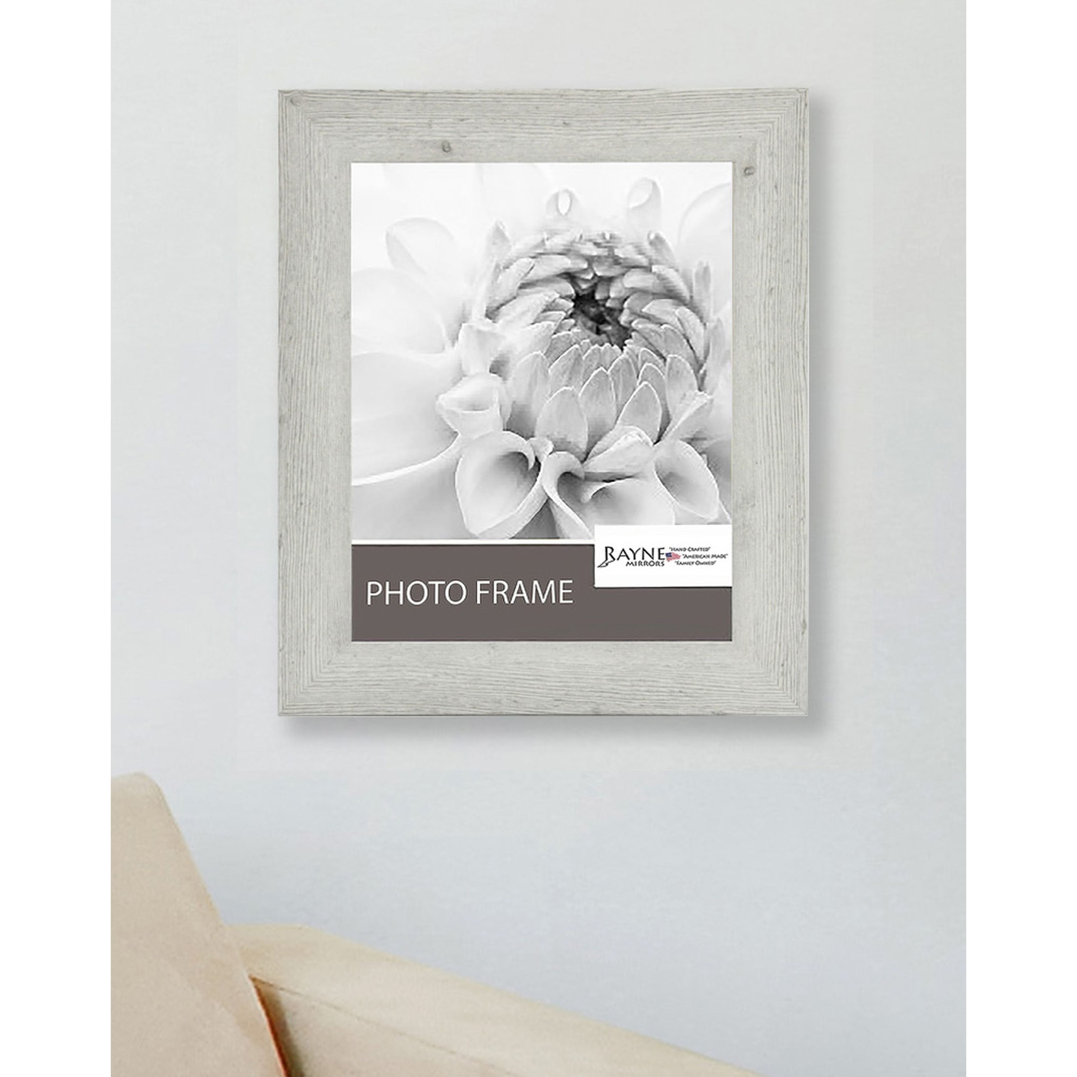 American Made Rayne White Washed Antique Frame (Picture s...