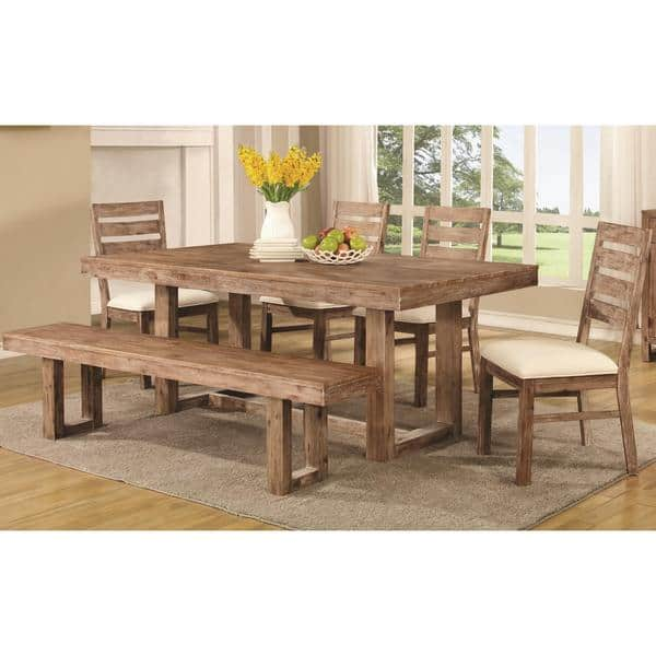 Cool Shop Madison Open Base Distressed Acacia Wood Dining Set Caraccident5 Cool Chair Designs And Ideas Caraccident5Info