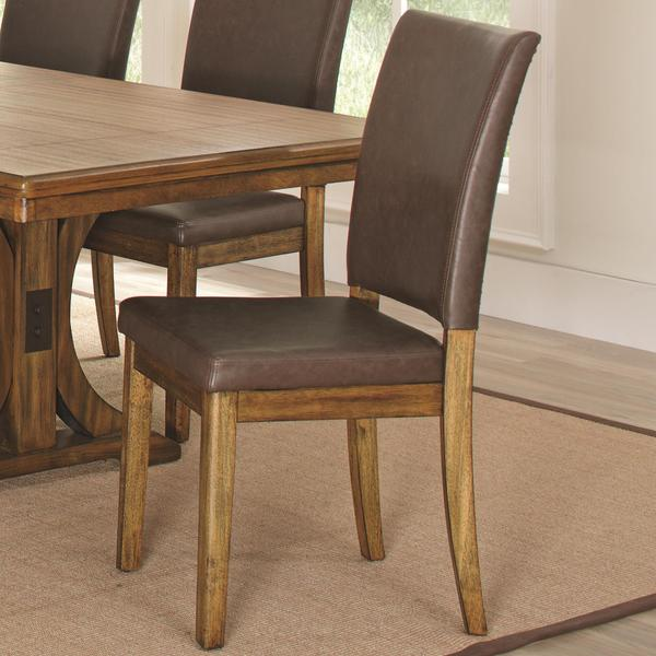 Monterey Modern Rustic Nailhead Trim Dining Chairs Set Of