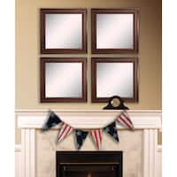 American Made Rayne Country Pine Square Wall Mirror Set - Brown/Black