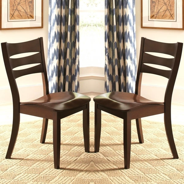 Delta Transitional Saddle Seat Dining Chairs (Set Of 2)