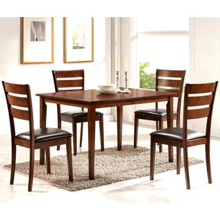 Gracy Transitional Medium Brown Ladder Back 5-piece Dining Set