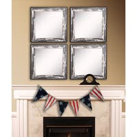 American Made Rayne Rustic Seaside Square Wall Mirror Set - Ivory/Black