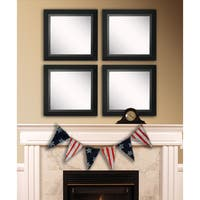 American Made Rayne Attractive Matte Black Square Wall Mirror Set