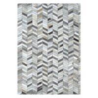 Safavieh Hand-Woven Studio Leather Modern Grey Leather Rug (3' x 5')