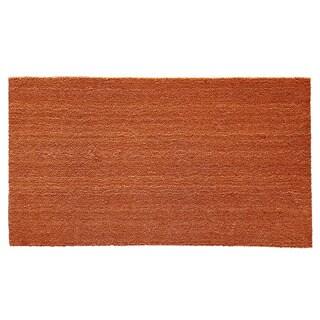Natural Coir and Vinyl Doormat