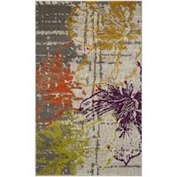 Safavieh Porcello Contemporary Floral Ivory/ Grey Rug - 3' x 5'