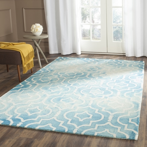 Safavieh Vintage Turquoise And Multi Colored Area Rug: Safavieh Handmade Dip Dye Watercolor Vintage Turquoise