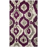 Safavieh Porcello Abstract Ogee Ivory/ Purple Rug - 3' x 5'