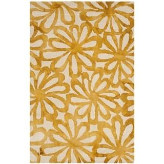 Safavieh Handmade Dip Dye Watercolor Vintage Beige/ Gold Wool Rug (3' x 5')