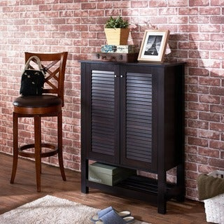Furniture of America Pilton Cappuccino Slatted 5-shelf Shoe Cabinet