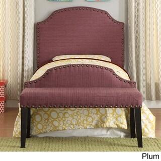 Furniture of America Emira 2-piece Flax Twin Headboard and Bench Set