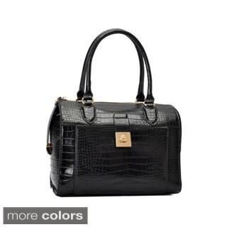 Oasis Handbag 'Essie' Glossy Crocodile Pattern Satchel Bag
