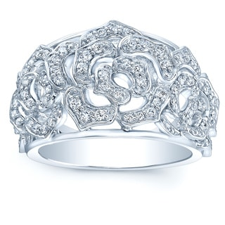 14k White Gold 1/2ct TDW Diamond Fashion Ring (H-I, VS1-VS2)
