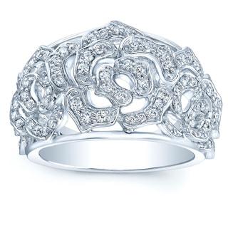 14k White Gold 1/2ct TDW Diamond Fashion Ring