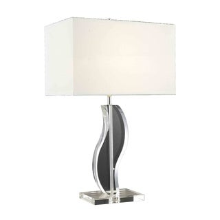 Somette Poise Curved Crystal Table Lamp