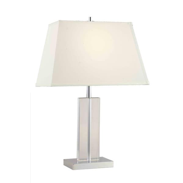 Somette Poise Crystal Rectangular Table Lamp