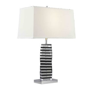 Somette Poise Crystal Twisting Blocks Table Lamp