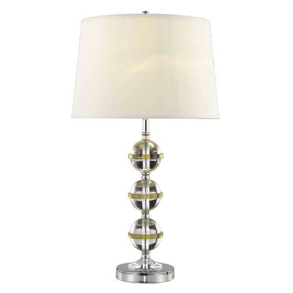 Somette Poise Stacked Crystal Globes Table Lamp