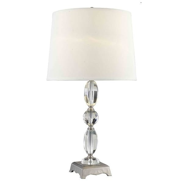 Shop Somette Poise Stacked Crystal Table Lamp Free Shipping Today