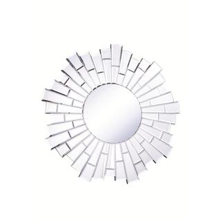 Link to Somette Bristow 32-inch Round Sunburst Mirror - Clear Similar Items in Mirrors