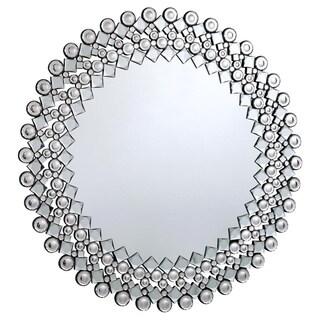 Somette Bristow 39.4-inch Round Geometric Mirror - Clear